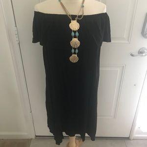 🌹NWOT BLACK OFF SHOULDER DRESS